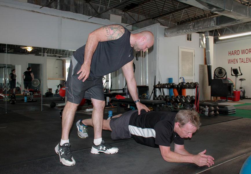 Men's Fitness Training - Planking
